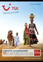Prospectus TUI : Brochure Circuits Accompagnés Collection 2019