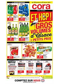 Prospectus Cora : Gros volumes d'Alsace = petits prix