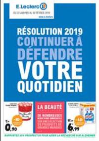 Prospectus E.Leclerc MONTBELIARD : Résolution 2019 continuer à défendre votre quotidien