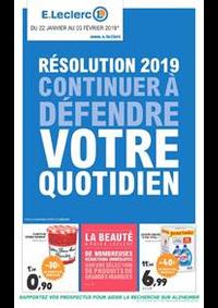 Prospectus E.Leclerc CLICHY SOUS BOIS : Résolution 2019 continuer à défendre votre quotidien