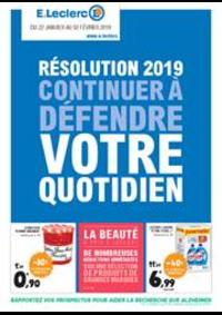 Prospectus E.Leclerc HAUCONCOURT - MAIZIERES LES METZ : Résolution 2019 continuer à défendre votre quotidien