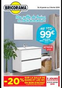 Prospectus Bricorama BONDY : Ma salle de bains en toute économie!