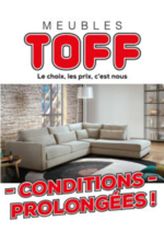Prospectus Meubles Toff : Conditions Prolongées