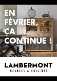 Prospectus Meubles Lambermont  : En février, ça continue !