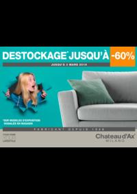 Promos et remises Chateau d'Ax ANDERLECHT : DESTOCKAGE JUSQU'A -60%