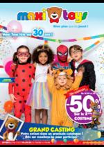 Prospectus Maxi Toys : -50% sur le 2éme COSTUME