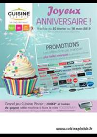 Prospectus Cuisine plaisir PARIS : Joyeux Anniversaire!