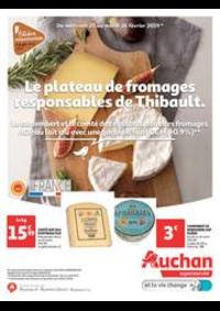 Prospectus Auchan Supermarché Saint-Germain-lès-Corbeil : Le plateau de fromage responsable de Thibault