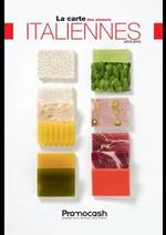 Prospectus Promocash : Carte des saveurs italiennes 2018-2019
