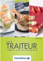 Prospectus Carrefour : Carte traiteur printemps été