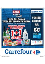 Prospectus Carrefour : La vie des belges deux fois moins chère !