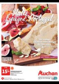 Prospectus Auchan ISSY LES MOULINEAUX : Italie, Espagne, Portugal. Un voyage culinaire, sans bouger de chez vous.