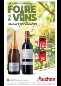 Prospectus Auchan VILLETANEUSE : Foire aux vins, saveurs printanières