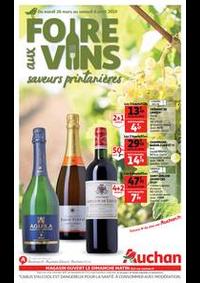 Prospectus Auchan Epinay sur Seine : Foire aux vins, saveurs printanières