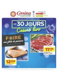 Prospectus Supermarchés Casino PARIS 16 Rue des Belles Feuilles : Les 30 jours Casino live