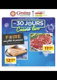Prospectus Supermarchés Casino CHAVILLE : Les 30 jours Casino live