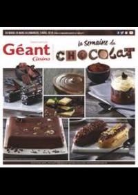 Prospectus Géant Casino BESANÇON : La semaine du chocolat