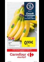 Prospectus  : Carrefour market : offres valables à partir du 27 mars