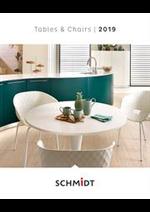 Prospectus Cuisines Schmidt : Tables et Chaises Tafels en stoelen 2019
