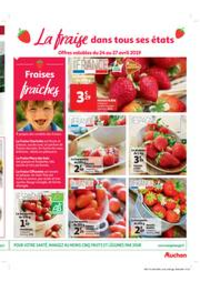 Prospectus Auchan Le Kremlin-Bicêtre : fraise