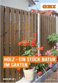 Prospectus OBI : Holz - Ein stuck natur im Garten
