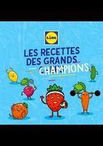 Prospectus Lidl : Les recettes des grands champions