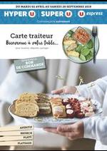 Promos et remises  : CARTE TRAITEUR BIENVENUE À VOTRE TABLE...