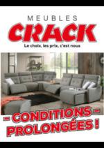 Promos et remises Meubles Crack : Conditions prolongées !