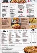 Menus Pizza hut : Menus