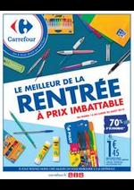 Prospectus Carrefour : Le meilleur de la rentrée !