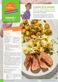 Menus Colruyt ANDENNE : 2 menus de la semaine crees par notre equipe culinaire