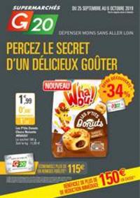 Prospectus G20 PARIS 8 Marché Europe : Percez le secret d'un délicieux goûter