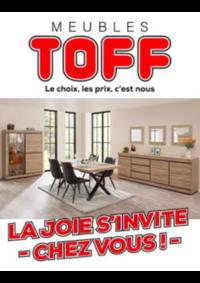Prospectus Meubles Toff : La joie s'invite chez vous !