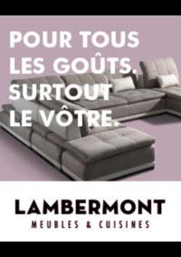 Prospectus Meubles Lambermont  : Pour tous les goûts