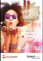 Promos et remises  : Voyages de Fêtes 2019-2020