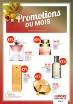 Promos et remises Import Parfumerie : Promotions du Mois