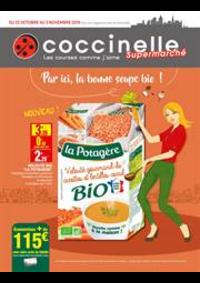 Prospectus Coccinelle Supermarché PARIS 108/110 RUE DES PYRENEES : Par ici, la bonne soupe bio!