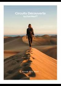 Journaux et magazines CLUB MED voyage FONTAINEBLEAU : Circuits Découverte  Hiver-Été 2020