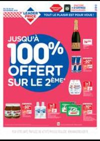 Prospectus Leader Price Saint-Denis : Jusqu'à 100% offert sur le 2ème