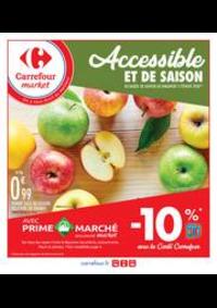 Prospectus Carrefour Market Vaires Sur Marne : Accessible et de saison