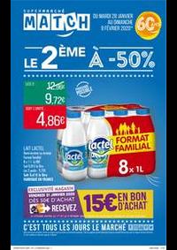 Prospectus Supermarchés Match Lannoy : Le 2ème à -50%