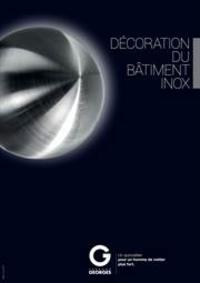Prospectus Fernand GEORGES ALLEUR : Batiment inox