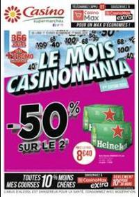 Prospectus Supermarchés Casino TOULON 484 Avenue de Siblas : Le mois Casinomania