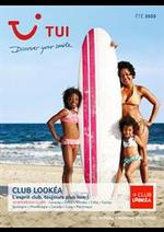 Tarifs TUI : Brochure TUI Club Lookéa Été 2020