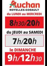 Prospectus Auchan : horaires magasin