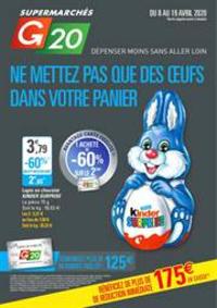 Prospectus G20 PARIS 16 D'Auteuil : Ne mettez pas que des œuf dans votre panier