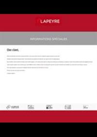 Prospectus Lapeyre Coignières : Informations Spéciales