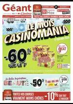 Promos et remises Géant Casino : Le mois Casinomania