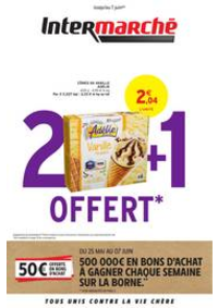 Prospectus Intermarché Super Roubaix : 2 + 1 OFFERT