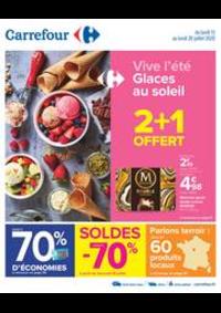 Promos et remises Carrefour BOURGES : Vive l'été - Glaces au soleil